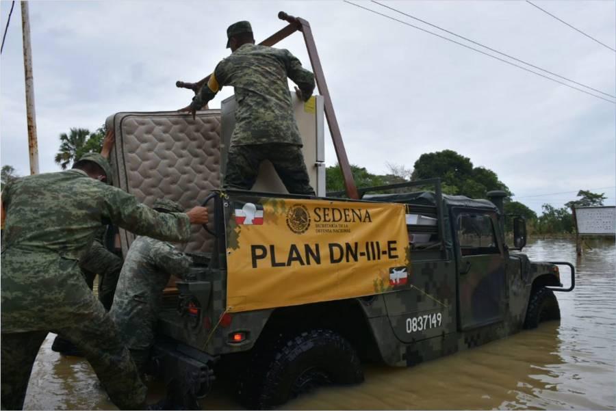 Aplican Plan DN-III tras inundaciones en Querétaro