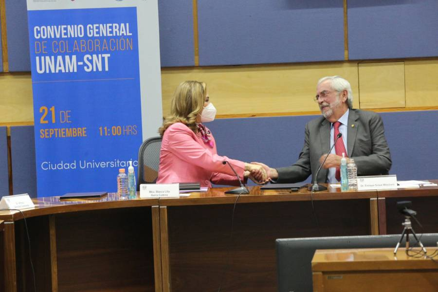 Firman convenio UNAM y el Sistema Nacional de Transparencia