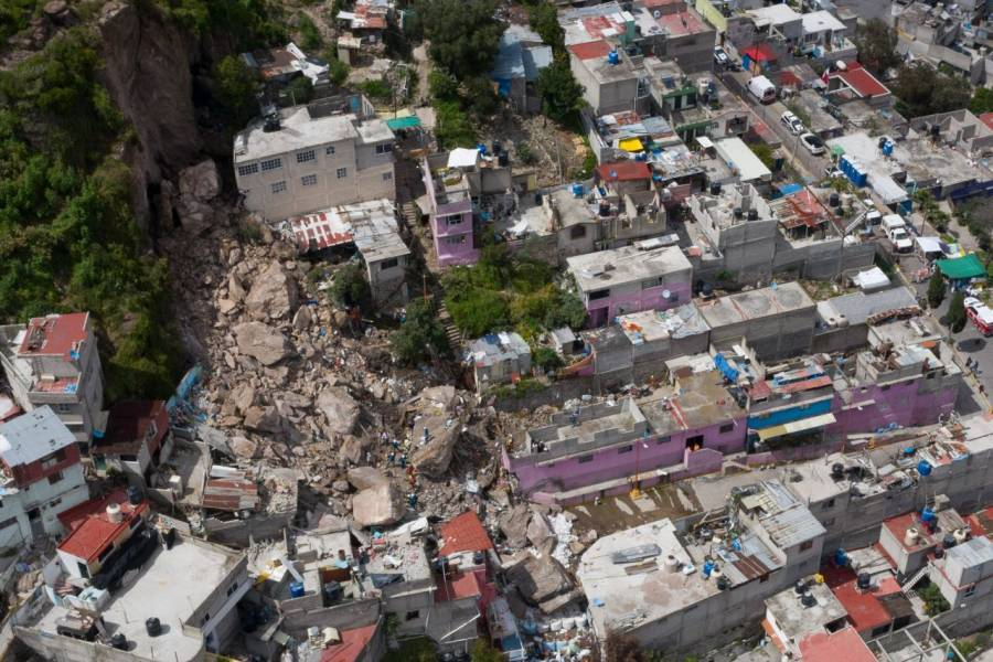 Anuncian demolición de casas tras deslave en el Cerro del Chiquihuite
