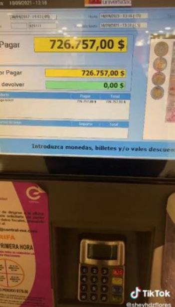 ¿Cuánto pagas de estacionamiento? ¡Una tiktoker debe 726 mil 757 pesos!