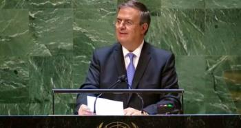 Marcelo Ebrard aborda ante ONU el cambio climático como amenaza para la sobrevivencia humana