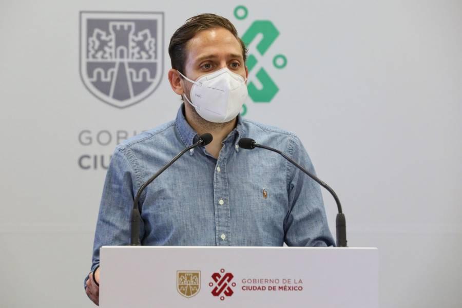 Menos decesos en la CDMX durante la tercera ola: Eduardo Clark