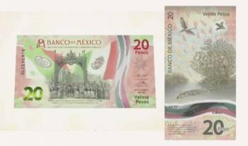 Banxico celebra Consumación de la Independencia con billete de 20 pesos