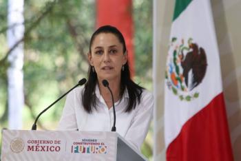 Claudia Sheinbaum niega que las giras de AMLO tengan que ver con el 2024