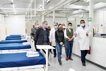 El IMSS y GobCDMX supervisan CAT de Infectología Tlatelolco para atención de Covid-19 en el Valle de México