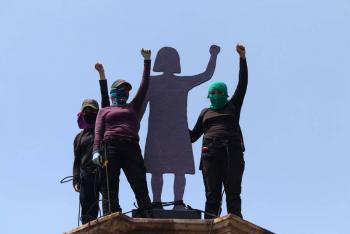 Sin incidentes, protestas feministas en Paseo de la Reforma: SECGOB