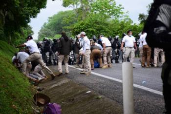 CIDH condena uso de la fuerza contra migrantes en México