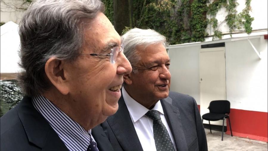 Cuauhtémoc Cárdenas y AMLO se reencuentran; hubo peticiones