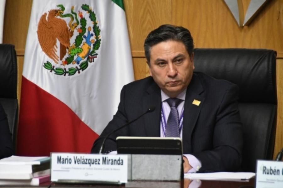 Mario Velázquez, presidente del IECM, rendirá informe de actividades el miércoles