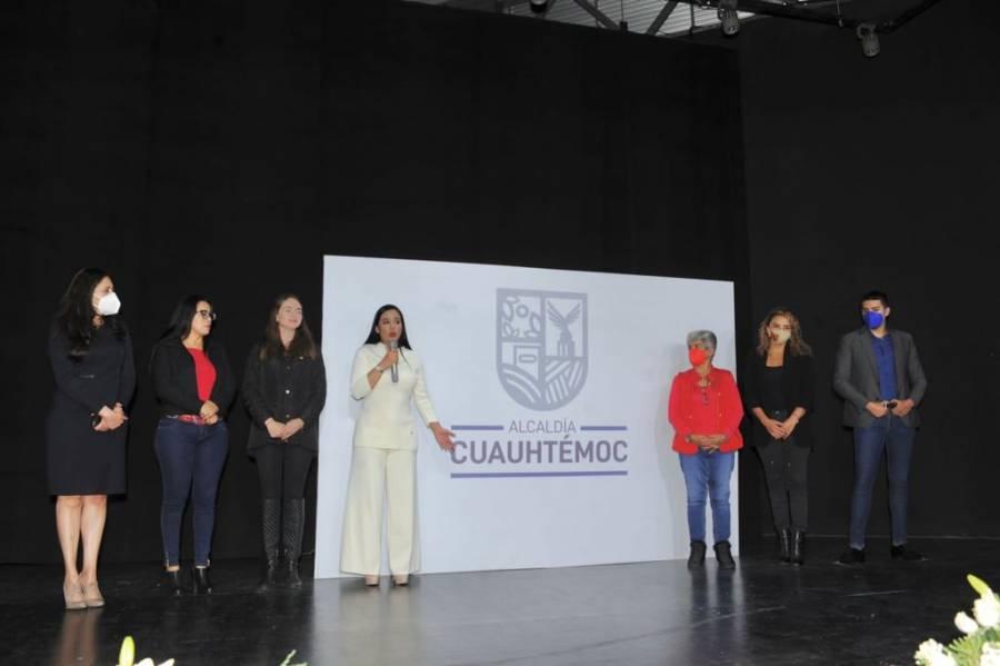 Presenta Sandra Cuevas nueva imagen institucional en Cuauhtémoc sin colores partidistas