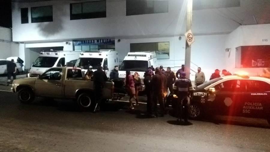 Muere un hombre afuera de la Central de Emergencia en Cuajimalpa