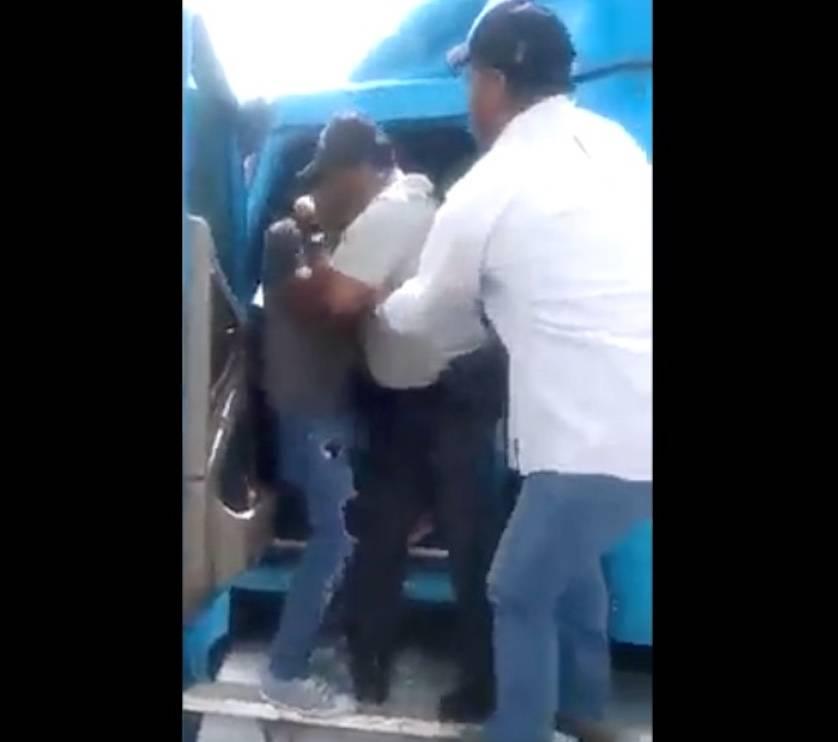Agente de la Guardia Nacional y trailero se enfrentan por una extorsión