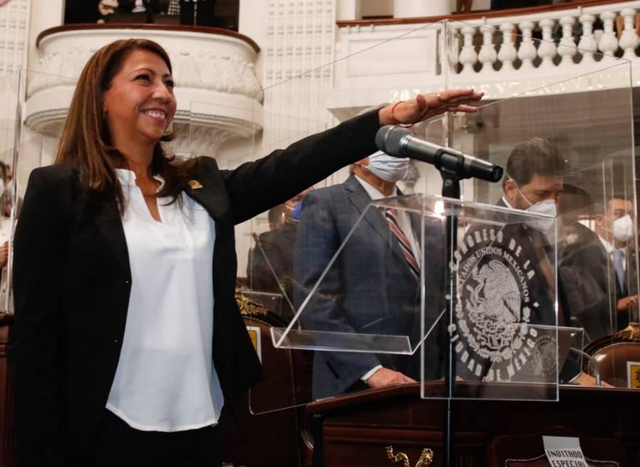 Martí Batres felicita a alcaldesa de Venustiano Carranza, Evelyn Parra Álvarez