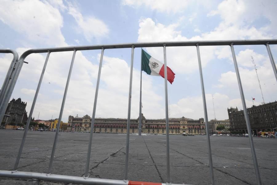 Por marcha del 2 de octubre, blindan el Zócalo capitalino