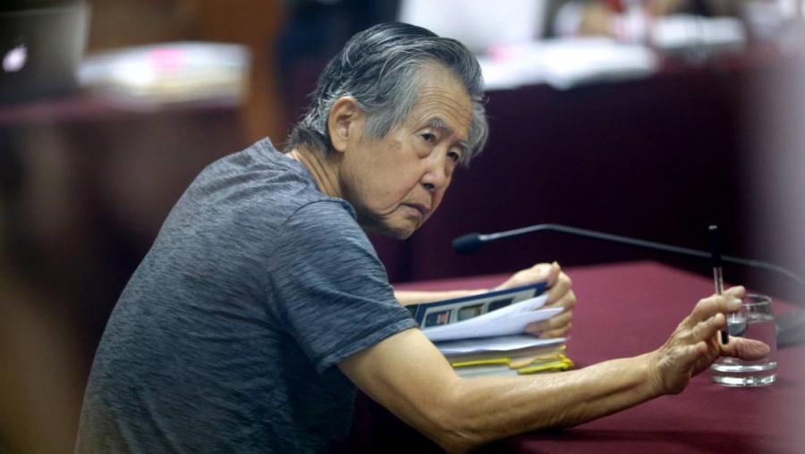 Alberto Fujimori, ex presidente de Perú, fue hospitalizado debido a problemas respiratorios