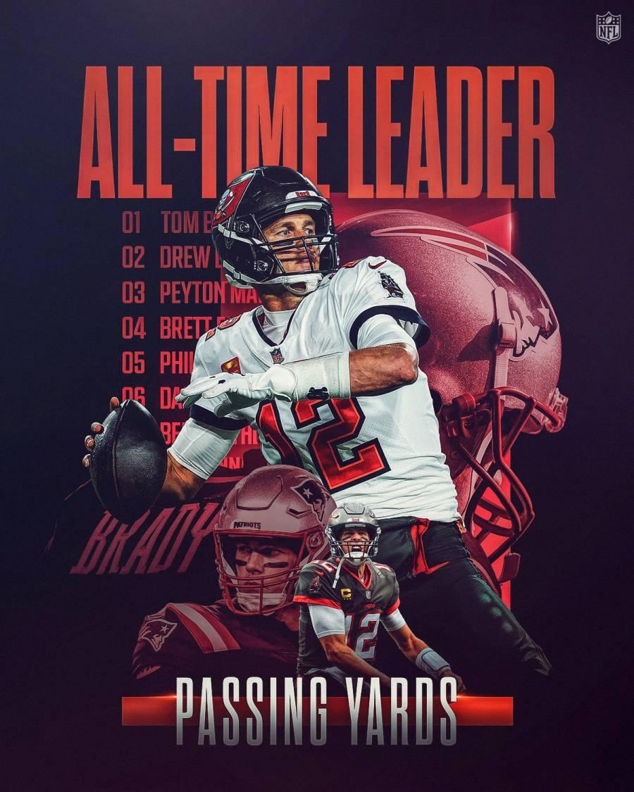 Tom Brady bate el récord de la NFL de yardas de pase