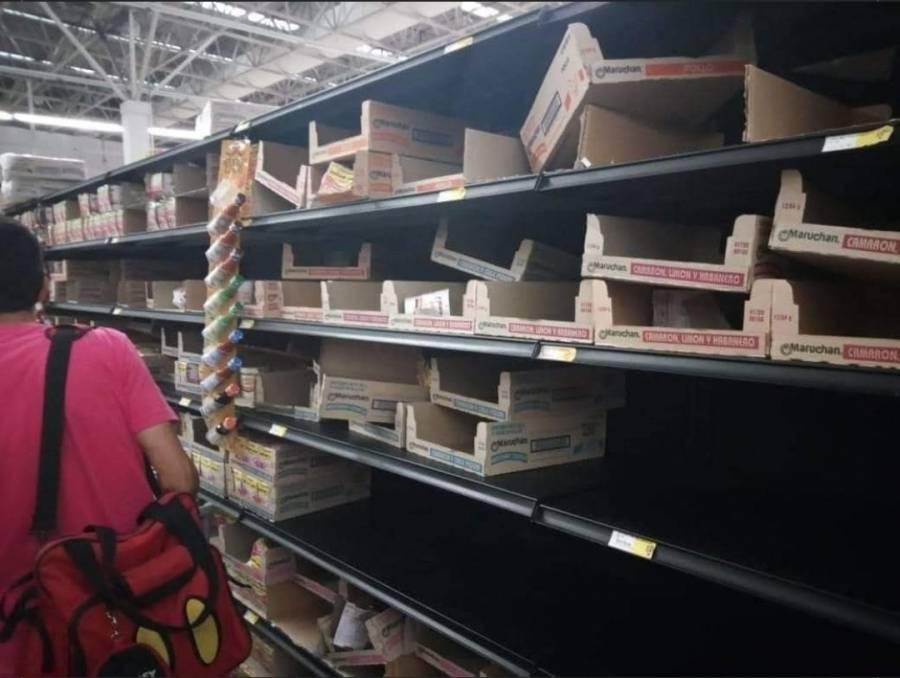 Reportan compras de pánico de Maruchan y otras sopas instantáneas
