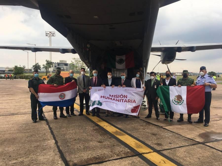 México dona a Paraguay 150 mil dosis de vacunas AstraZeneca