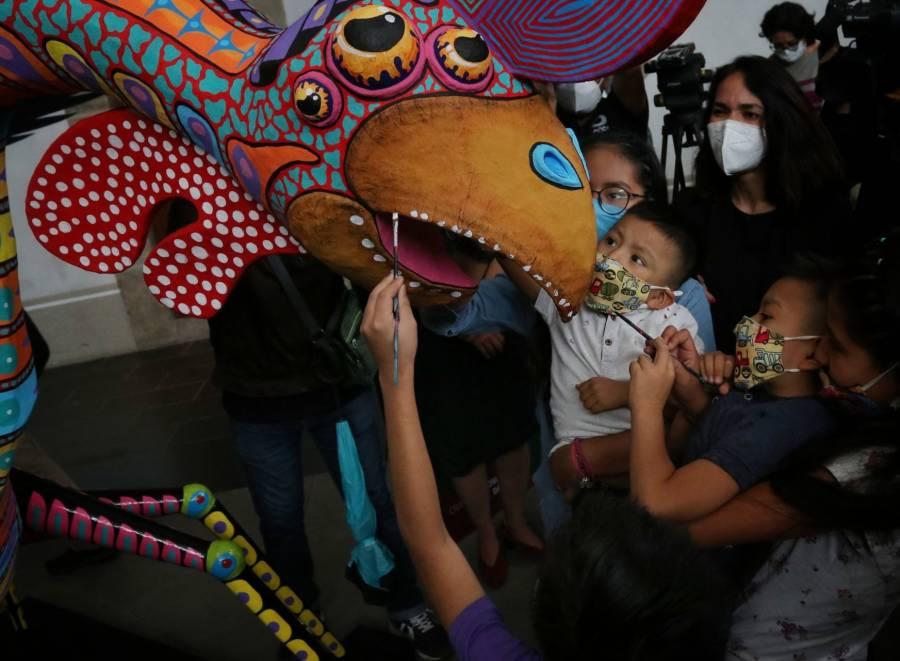 Fueron presentados los alebrijes que participarán en el desfile de la CDMX