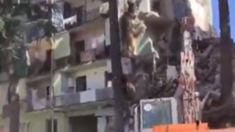 Tras derrumbe de un edificio en Georgia, 15 personas se quedaron atrapadas