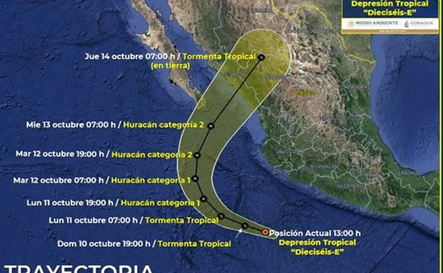 """¡Aguas! Prevén que """"Pamela"""" toque Sinaloa como huracán"""