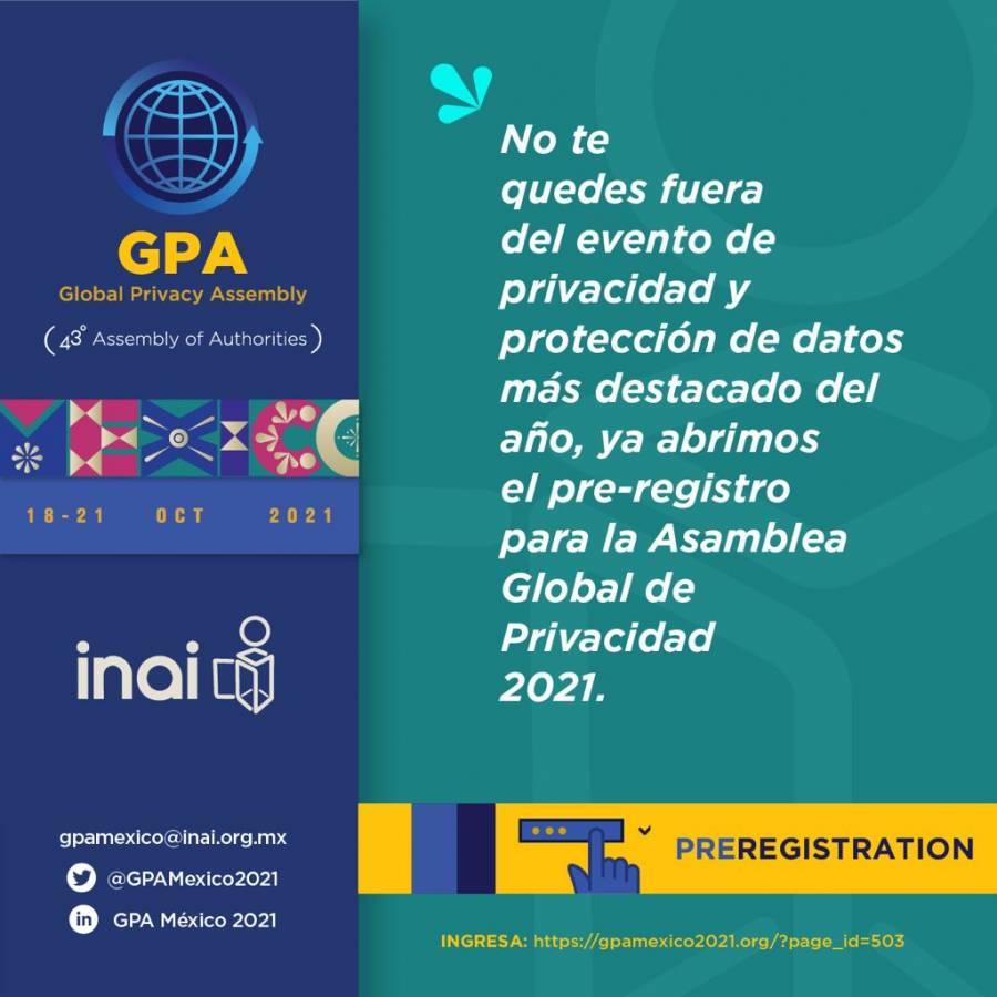 Se llevó a cabo la Asamblea Global de Privacidad 2021