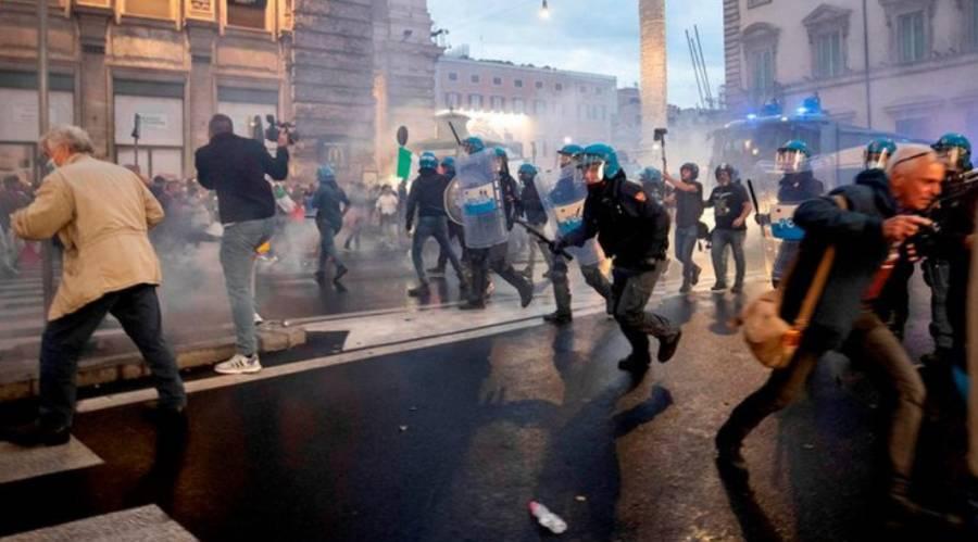 Piden en Italia la disolución de grupos neofacistas, tras violentas manifestaciones
