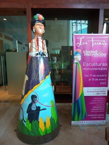 """Exhibirá Mayakoba, la exposición """"Las Fridas"""" de esculturas monumentales"""