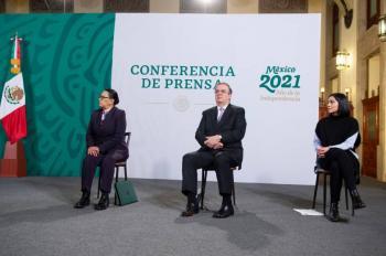 Avance en vacunación permitirá apertura de frontera con Estados Unidos, dice Rosa Icela Rodríguez.