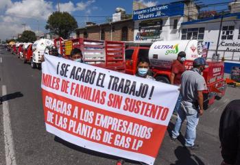 Gaseros mantendrán paro indefinido en Valle de México este miércoles