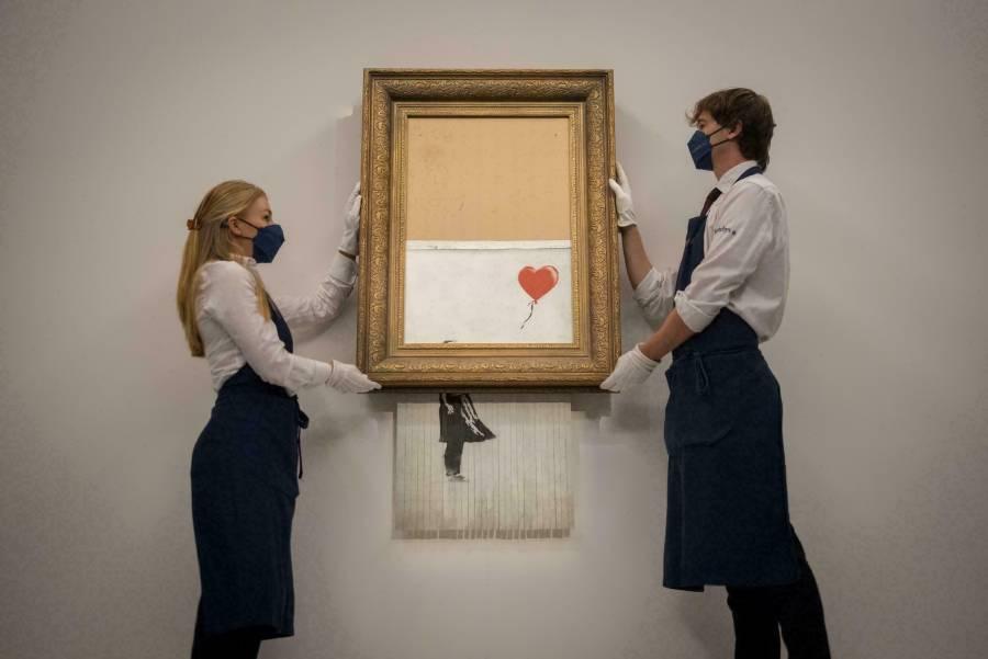 La obra autodestruida de Banksy vendida en 18.6 millones de libras, un récord