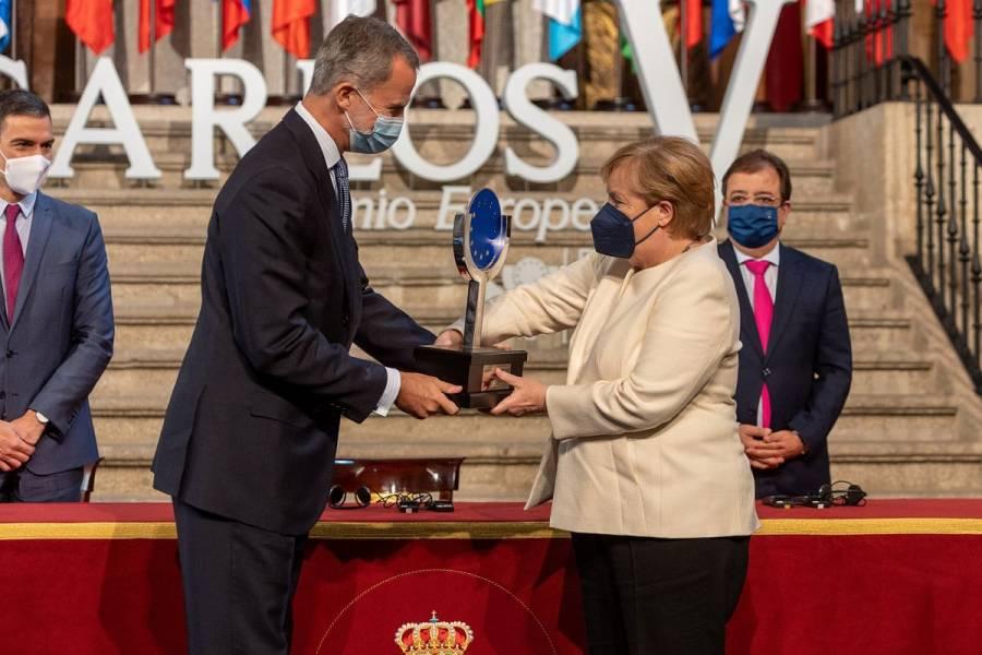 Angela Merkel recibe Premio Europeo Carlos V, en España