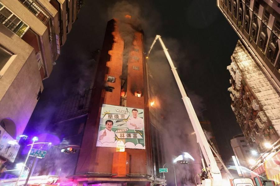 Al menos 46 muertos en un incendio en el sur de Taiwán
