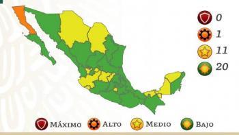 La mayoría del país está en color verde en Semáforo Covid; ningún rojo