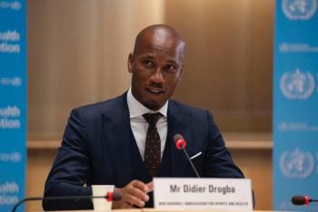 OMS nombra a Didier Drogba como embajador para el deporte y la salud