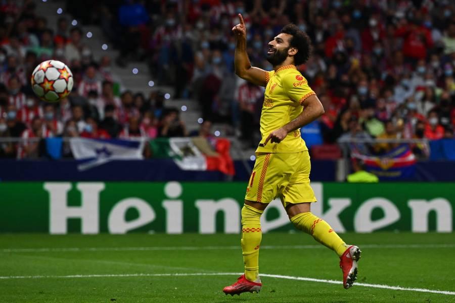 Salah rescata al Liverpool ante un combativo Atlético de Madrid