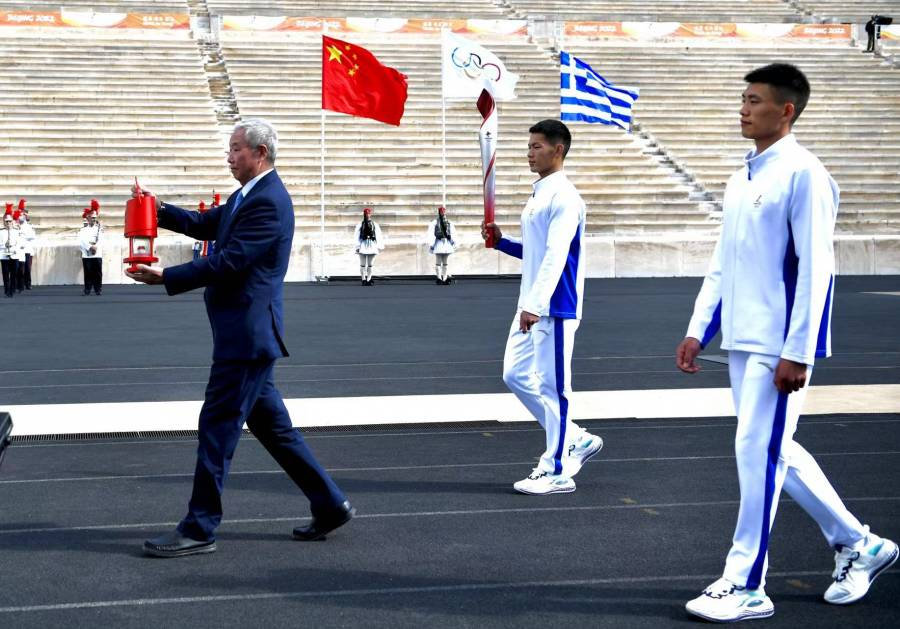 Llama olímpica llega a China para Juegos de Invierno Pekín-2022