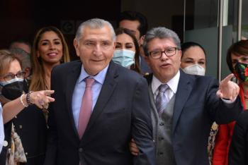 Revisan Ricardo Monreal y Adán Augusto López, temas de la agenda legislativa