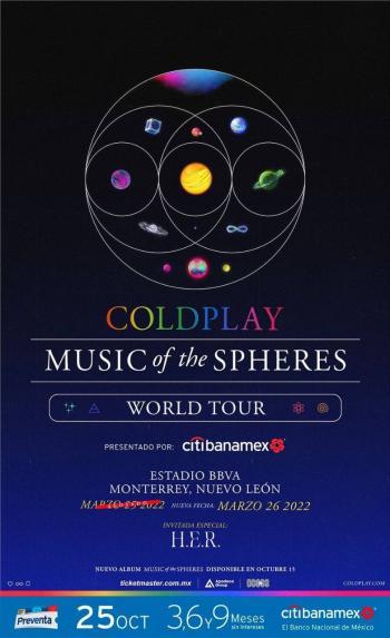 Coldplay abre nueva fecha en Monterrey
