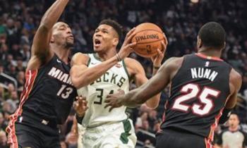 Los Milwaukee Bucks caen ante Miami Heat por 42 puntos