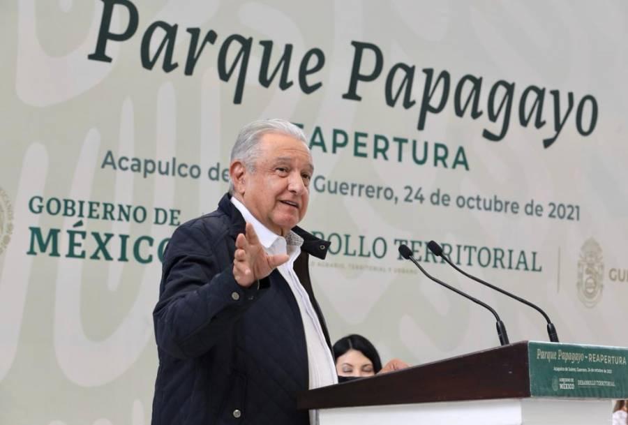 Chapultepec tendrá 4ta sección, anuncia AMLO en reapertura de Parque Papagayo, en Acapulco