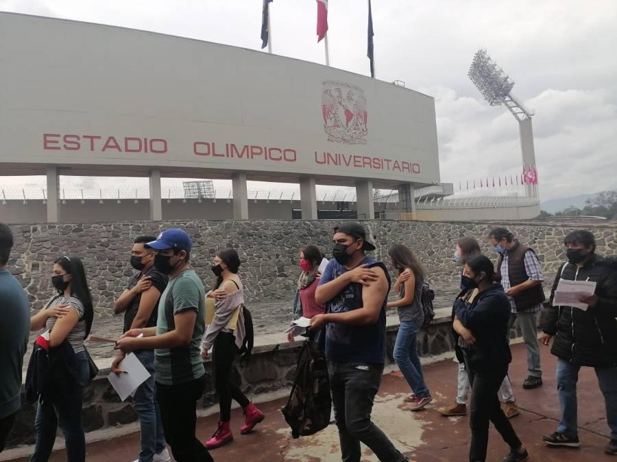 Estadio Olímpico Universitario rompe cifra récord nacional de vacunación