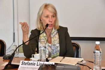IECM recibe visita de jurista internacional Stefanie Lindquist
