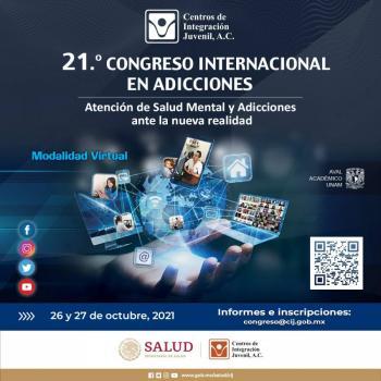 """Inicia el 21.° Congreso Internacional en Adicciones """"Atención a la salud mental y adicciones ante la nueva realidad"""""""