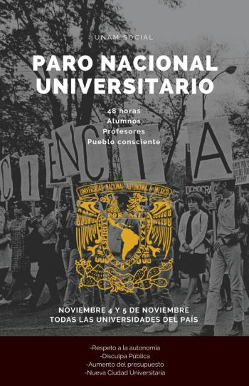 Tras ataques de AMLO, convocan a paro nacional universitario