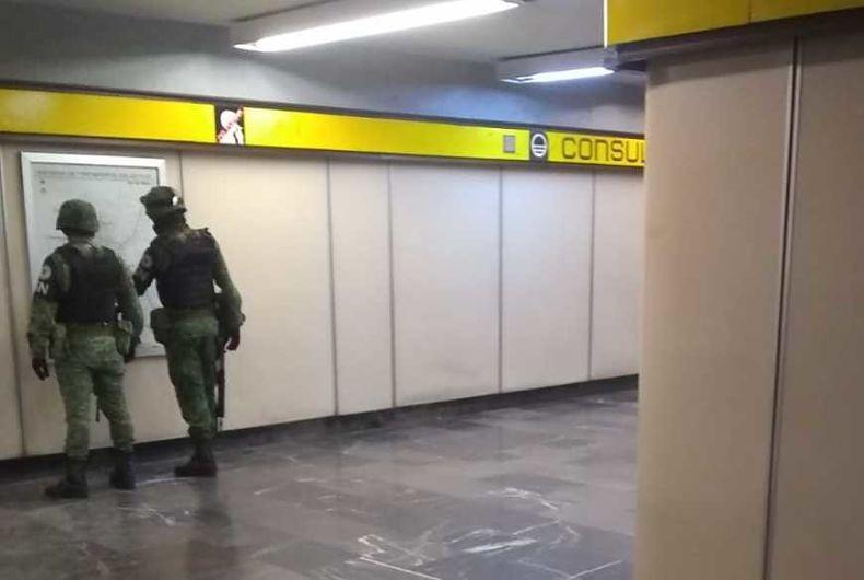 Guardia Nacional llega al Metro
