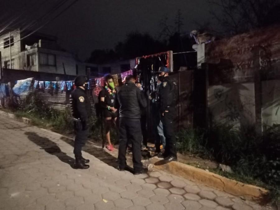 Operativos contra fiestas clandestinas en Cuajimalpa