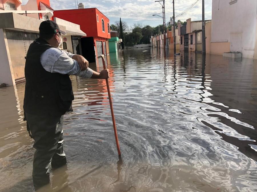 Protocolos de seguridad ante contingencia por lluvias en Soledad