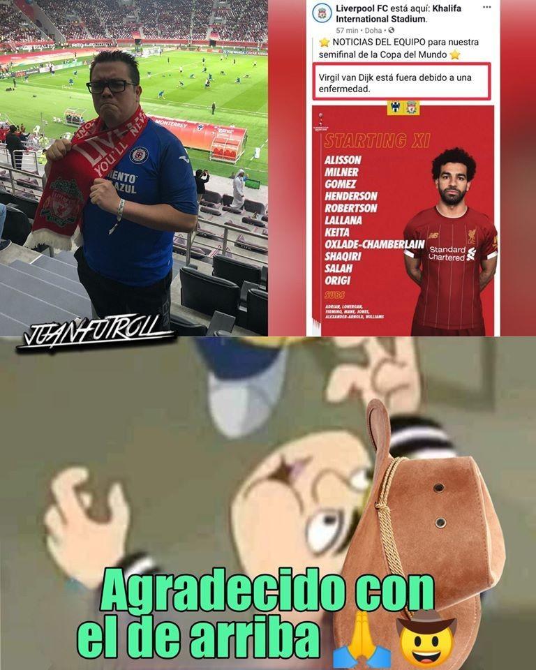 Liverpool vs Rayados en memes