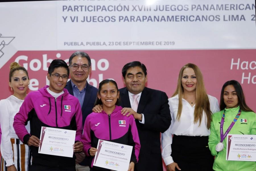 Compromete gobernador de Puebla apoyo por igual a deporte popular y de alto rendimiento